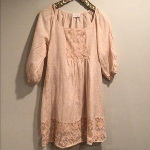 peach girlie dress
